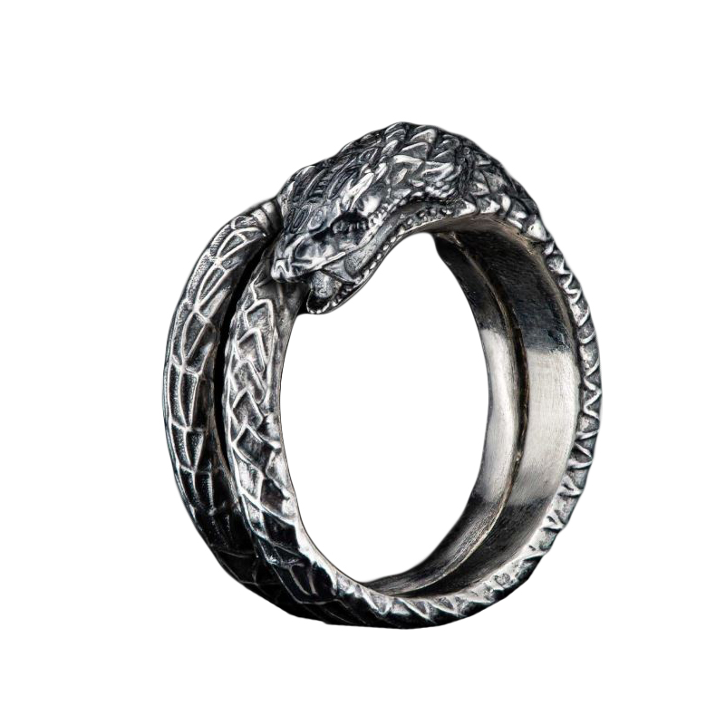 William Henry Sterling Silver Mehen Coiled Snake Ring
