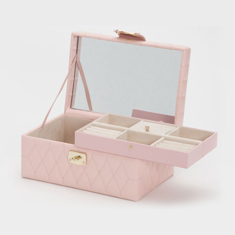 WOLF Caroline Rose Quartz Small Jewelry Case