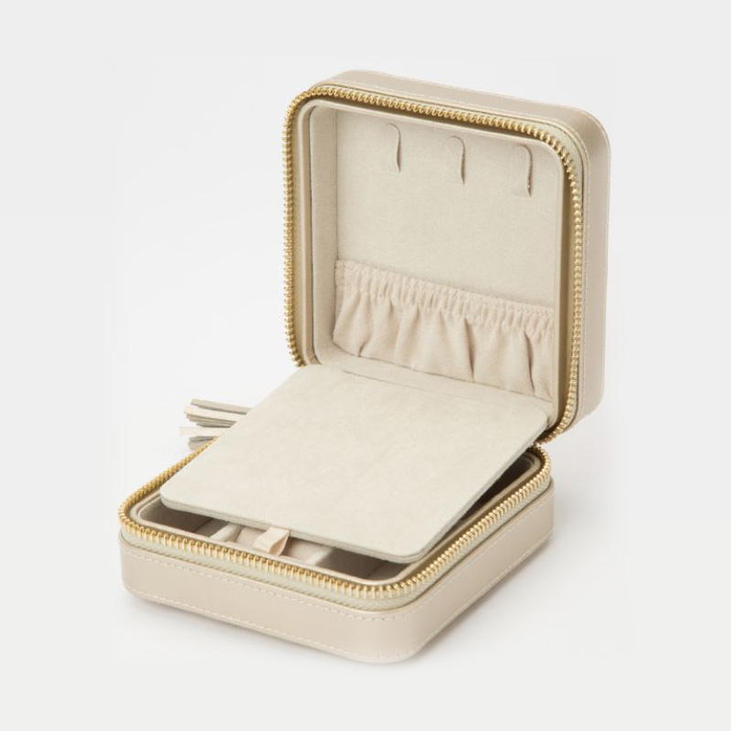 WOLF Caroline Champagne Zip Travel Case