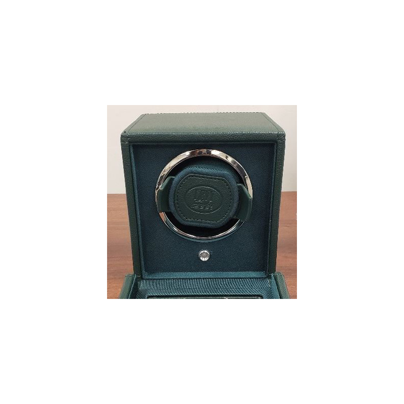 WOLF Cub Green Single Watch Winder with Levy Logo
