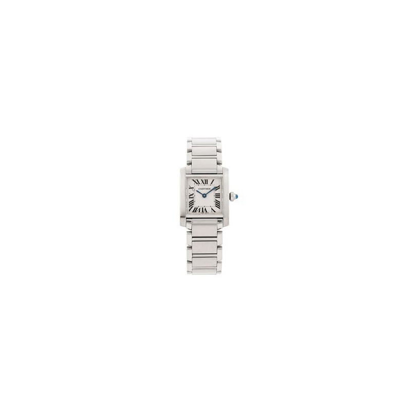 Estate stainless steel Cartier Tank Francaise large watch.
