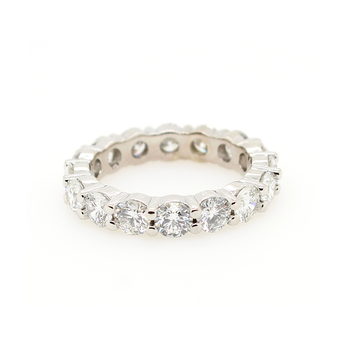 14 Karat White Gold Diamond Eternity Band