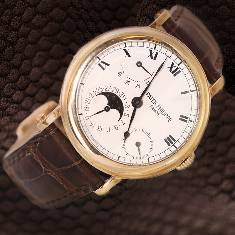 Patek Philippe 18 Karat Yellow Gold 36Mm Vintage Watch From The Complications Series.