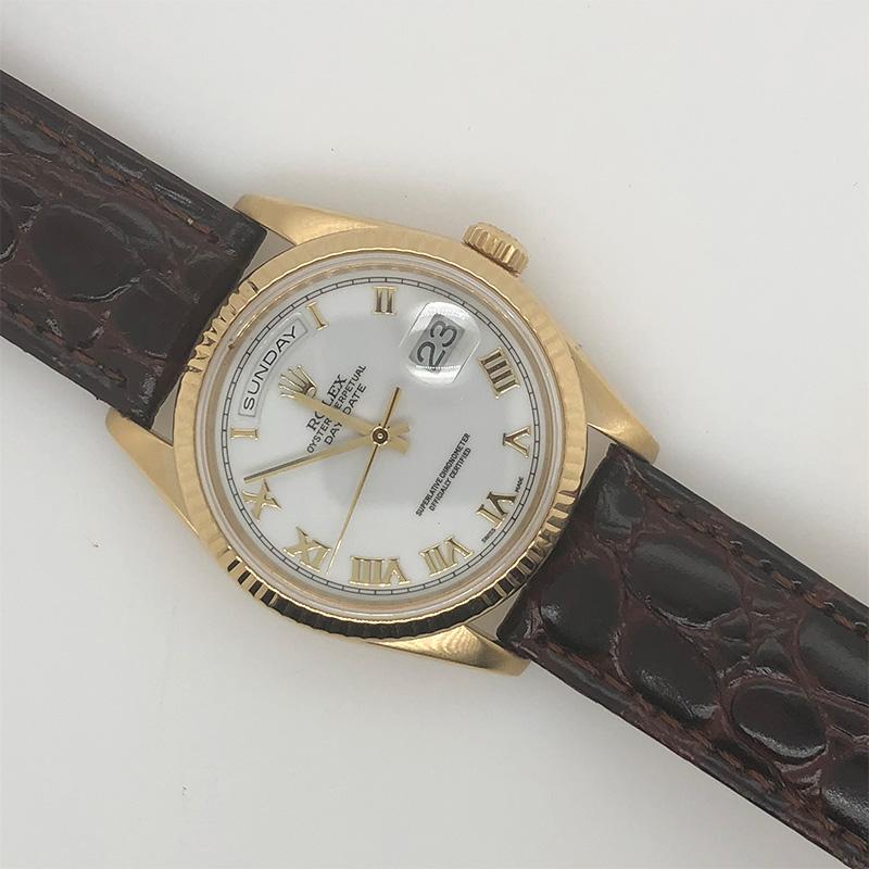 Estate Rolex 18 Karat yellow gold oyster perpetual day-date watch