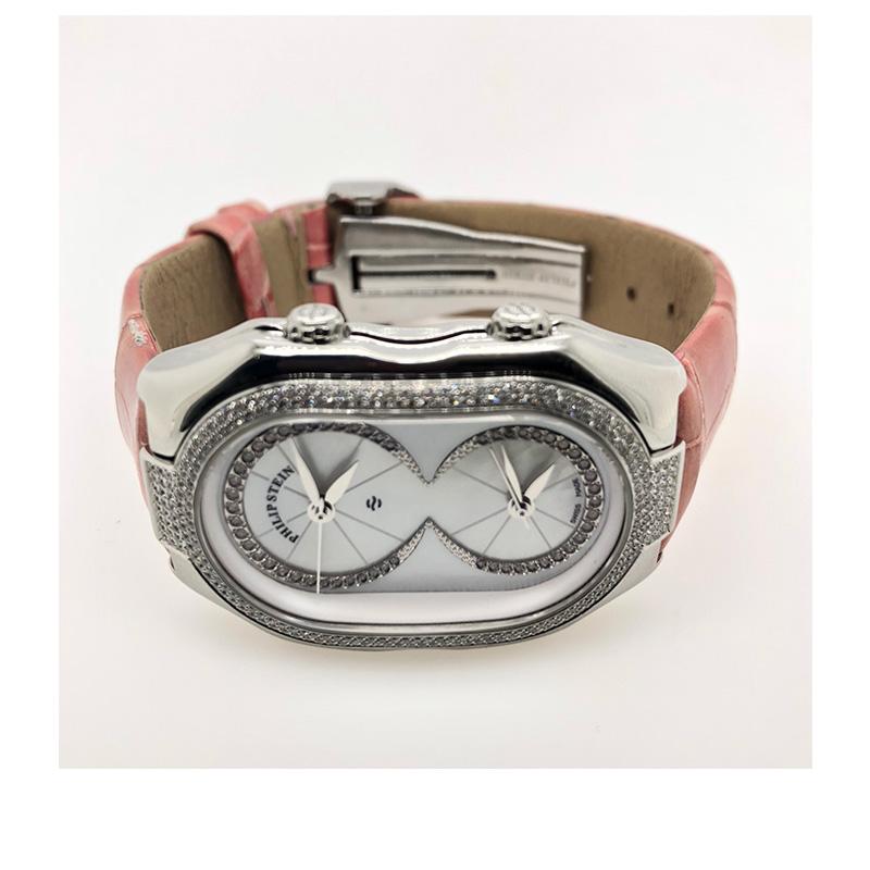 Estate Philip stein sterling silver small  prestige watch