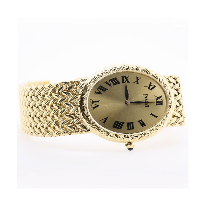 Estate Pieget 18 Karat yellow gold watch measuring 6.5