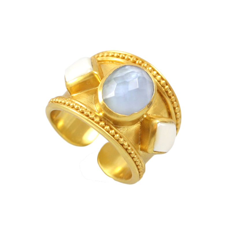 JULIE VOS LOIRE STONE RING