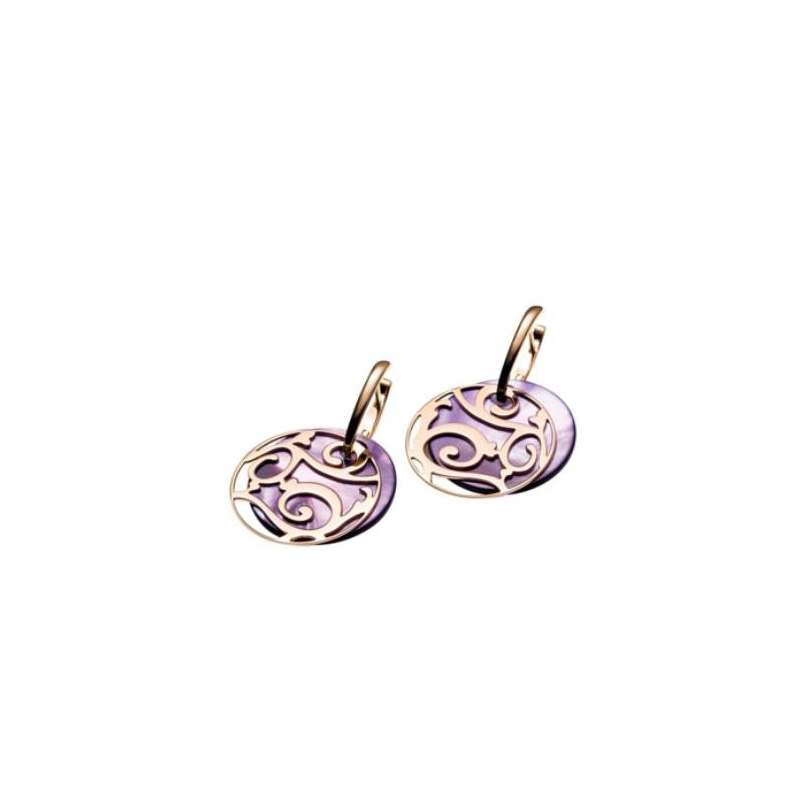 Mattioli Siriana Earrings Rose Gold With Mother Of Pearls