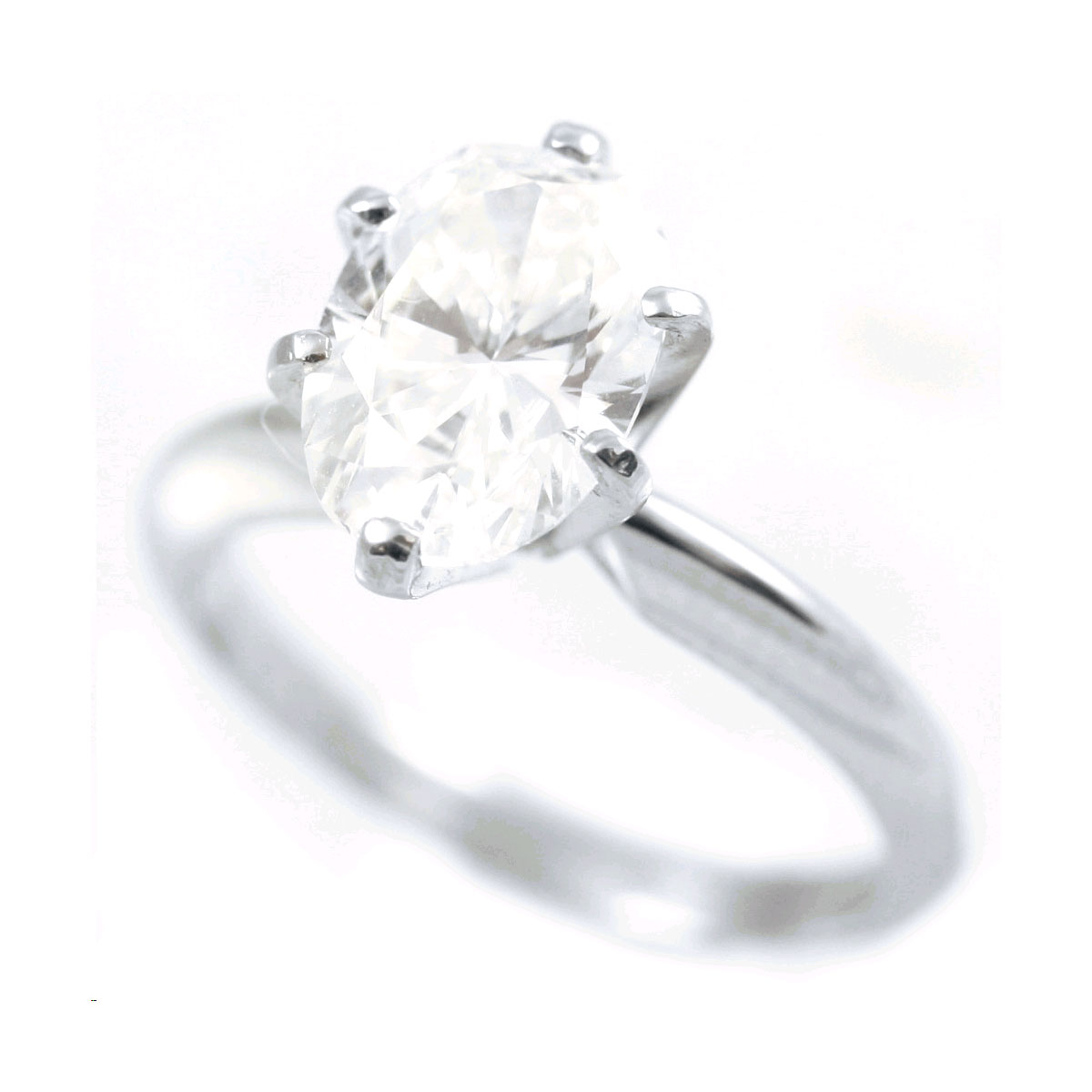 Platinum GIA Certified Oval Diamond Solitaire Ring